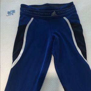 Adidas by Stella McCarthy Blue workout leggings.